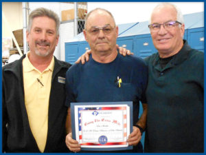 Mark and Larry Present Tom with G.E.M. Award