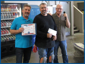 Mark and Larry Present Jesse with G.E.M. Award