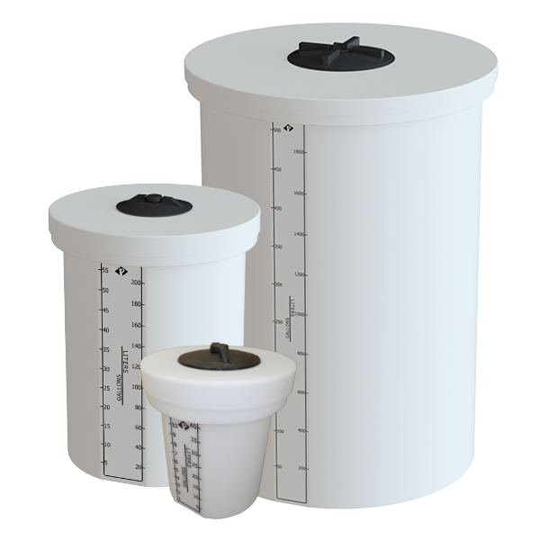 Prochem Solid Cover Process Chemical Tanks with Twist Lid